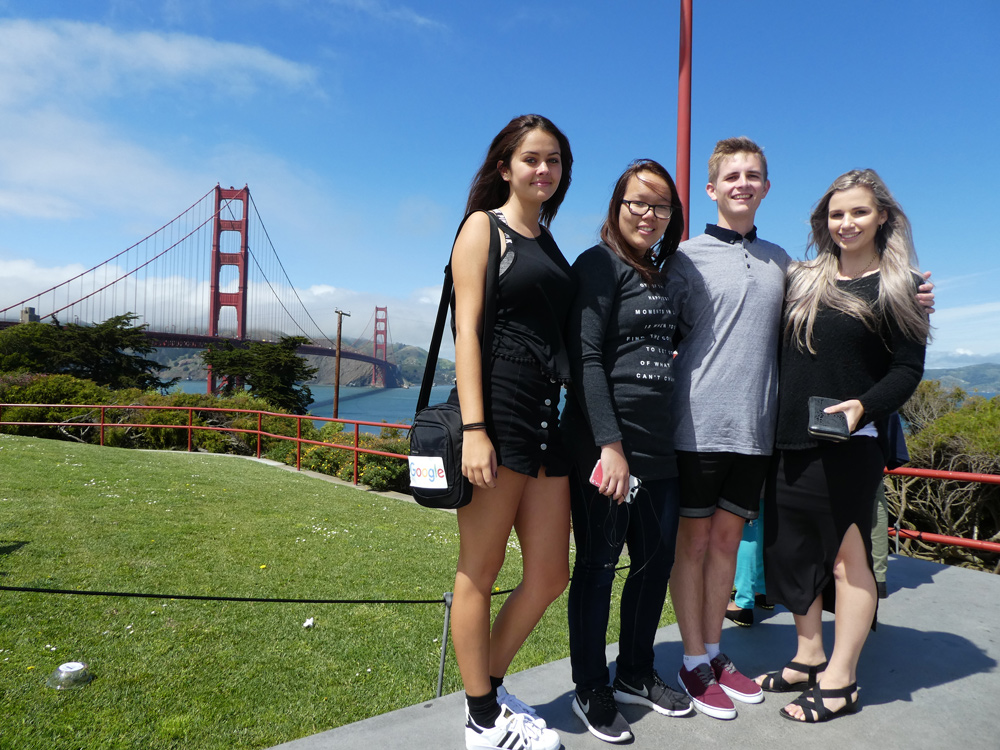 Visit the Golden Gate Bridge on your next overseas school tour