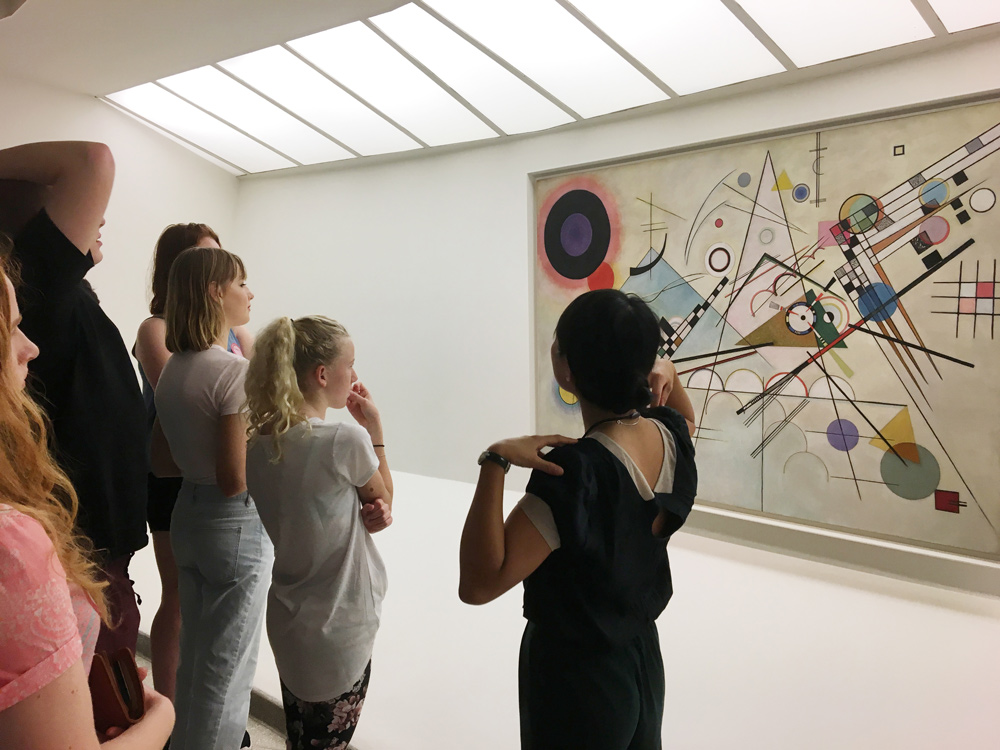 School tours for art students - NYC is one of the world's greatest artistic epicentres.